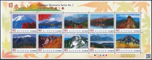 Mountains (1st) minisheet, Hegyek (I.) kisív