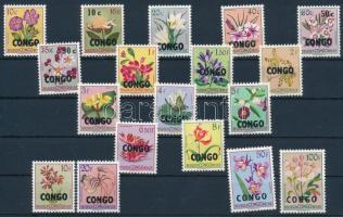 1960 Virágok felülnyomott sor Mi 11-28