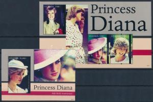 Princess Diana minisheet + block, Diana hercegnő kisív  + blokk