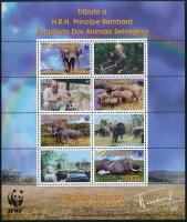 WWF African elephant minisheet WWF: Afrikai elefánt kisív