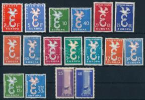 Europa CEPT teljes évfolyam; 17 érték, Europa CEPT the comlete year, 17 stamps