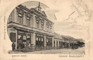 Érsekújvár, Nové Zamky; Piac tér, Bartlik Károly Nemzeti kávéháza. Conlegner J. és fia