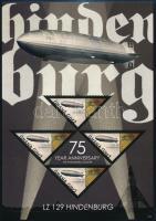 Hindenburg airship minisheet + block, Hindenburg léghajó kisív  + blokk
