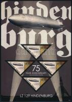 Hindenburg air ship minisheet + block, Hindenburg léghajó kisív + blokk