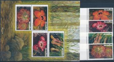 Flower margin set, Virág ívszéli sor  + blokk