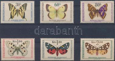 1966 Lepkék sor Mi 1620-1625
