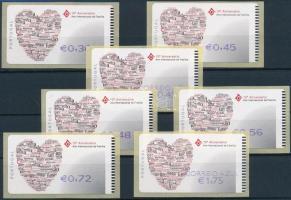International Family automatic stamps 7 diff. face values, Nemzetközi család automata bélyeg 7 klf névértékben