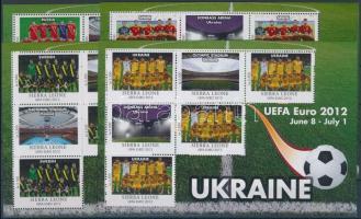 UEFA European Football Championship sheet set of 16 with participating teams, UEFA Labdarúgó Európa Bajnokság 16 db-os ívsor a résztvevő országok csapataival