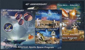 40th anniversary of the Apollo space program ends, 2 mini-sheets, 40 éve ért végett az amerikai Apolló űrprogram 2 kisív