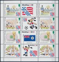 Football - USA minisheet + block Labdarúgó VB, USA kisív + blokk