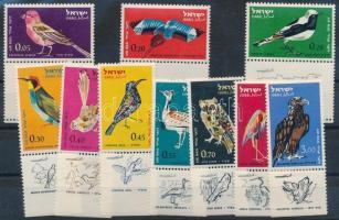 Bird motive 24 diff stamps, incl complete sets, stamps with tabs, Madár motívum 24 db klf bélyeg, közte teljes sorok, tabos bélyegek 2 db stecklapon