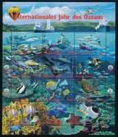 The Ocean's International Year mini sheet, Az óceán nemzetközi éve kisív