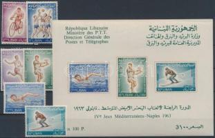 Mediterranean sports games pair + block, Mediterrán sportjátékok sor  + blokk