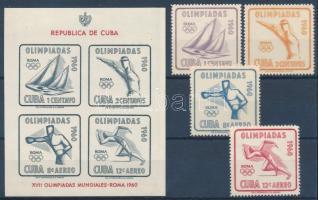 1960 Nyári olimpia sor Mi 669-672 + blokk Mi 18