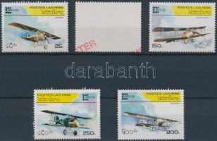 Stamp exhibition, Aeroplanes set SAMPLE, Bélyegkiállítás, Repülők sor MINTA