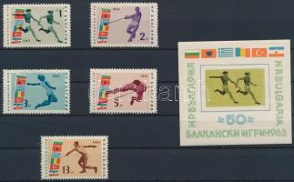 1963 Balkán sportjátékok sor Mi 1399-1403 + blokk 11
