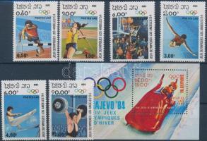 1983 Nyári olimpia sor Mi 618-623 + blokk Mi 92