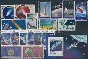 Space research 5 sets + 1 block + 6 stamps, Űrkutatás motívum 5 db sor + 1 blokk + 6 db önálló érték