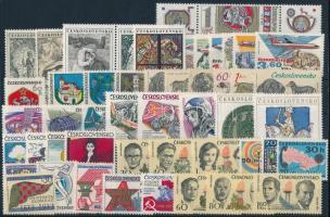 1973 50 klf bélyeg, csaknem a teljes évfolyam kiadásai