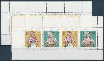 Sorb ftraditional costume 2 stamp-booklet sheets Szorb népviselet 2 db bélyegfüzetlap