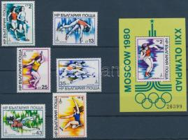 1979 Olimpia sor Mi 2800-2805 + blokk Mi 93