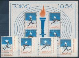 Summer Olympics, Tokyo corner set + block Nyári Olimpia, Tokió ívsarki sor  + blokk