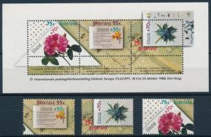 1988 Nemzetközi bélyegkiállítás sor Mi 1336-1338 + blokk Mi 31