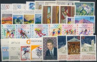1991-1992 30 stamps 1991-1992 30 db klf bélyeg, közte teljes sorok stecklapon