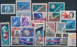 Space research 8 sets + 1 stamp, Űrkutatás motívum 8 db sor + 1 db önálló érték