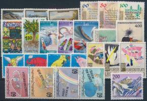 1993-1995 25 stamps 1993-1995 25 db klf bélyeg, közte teljes sorok, összefüggés, stecklapon