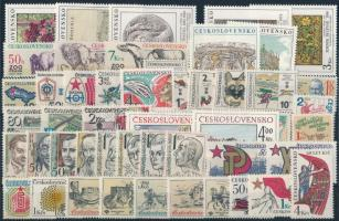 1981 46 klf bélyeg, csaknem a teljes évfolyam kiadásai