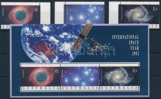 International Space Year set + block, Nemzetközi Űr év ívszéli sor+ blokk