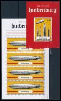 Hindenburg airship mini sheet + block, A Hindenburg léghajó katasztrófájának 75. évfordulója kisív + blokk