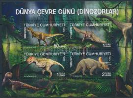 World Environment Day, dinosaurs block Környezetvédelmi világnap, dinoszauruszok blokk
