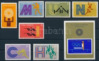 Munich Olympics set + block, Müncheni olimpia sor + blokk