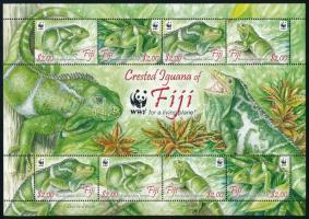 WWF: Iguana minisheet, WWF: Leguán kisív