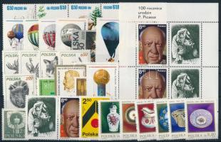 62 stamps + 3 blocks, 62 klf bélyeg + 3 klf blokk, csaknem a teljes évfolyam kiadásai, 2 stecklapon