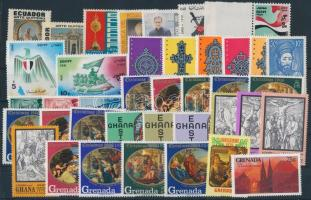 1965-1995 11 diff stamps + 7 diff sets, 1965-1995 11 klf önálló érték + 7 klf sor