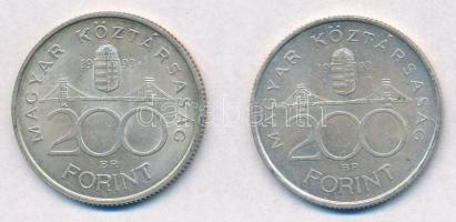 1993. 200Ft Ag MNB (2x) T:2