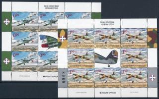 Old planes mini sheet pair, Régi repülőgépek kisívpár