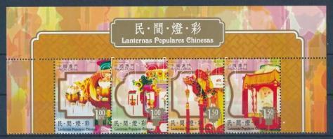 Chinese lanternas corner stripe of 4 Lanternák ívsarki négyescsík
