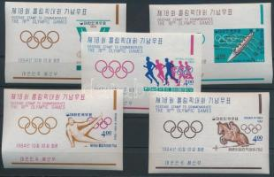Tokiói nyári olimpia vágott blokksor, Summer Olympics imperforate blockset