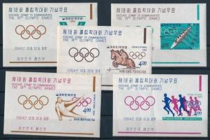 1964 Tokiói nyári olimpia vágott blokksor Mi 194-198