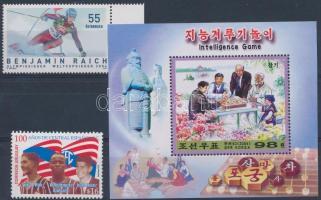 2004-2006 2 diff stamps + 1 block, 2004-2006 2 klf érték + 1 blokk