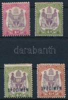 2 stamps + 2 samples, 2 Forgalmi + 2 MINTA