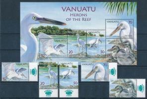 Reef Heron margin set + block, Zátonykócsag ívszéli sor + blokk