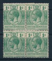 British Honduras Definitive block of 4 Brit Honduras Forgalmi négyestömb