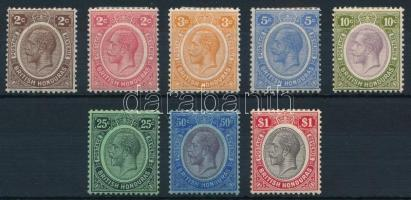 British Honduras 8 definitive stamps, Brit Honduras 8 klf Forgalmi bélyeg