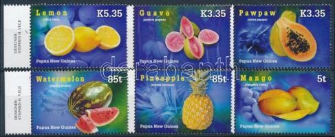 Tropical fruits margin set, Trópusi gyümölcsök ívszéli sor