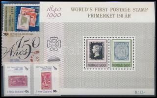Stamp, 2 stamps + 1 set + 1 block, Bélyeg motívum  2 klf önálló érték + 1 sor + 1 blokk